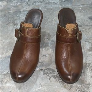 BOC  Leather upper mules- 9